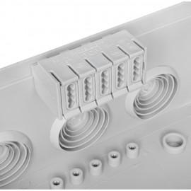 Kabeldose, BOXLINE, AP, 7 Einführungen M25  Länge 95 mm, Breite 95 mm, Höhe 56 mm