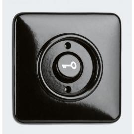 Tastereinsatz Kombi, mit Symbol 'Tür', Unterputz, 10A / 250V, Bakelit schwarz, THPG