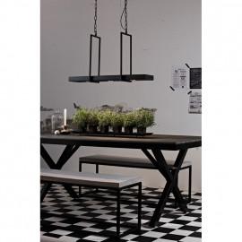 Pendelleuchte, Wohnraumleuchten TRAY, 3 x 3 LEDs / 3W Aluminium schwarz