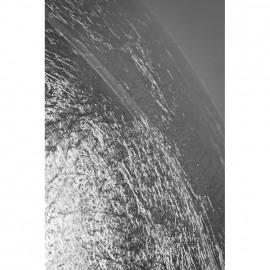 Pendelleuchte, Wohnraumleuchten ONTARIO, 1 x E27 / 60W, silber Massivglas mit Blattmuster