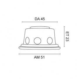 Einbaulautsprecher, Ø 50 mm, Chrom WHD