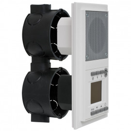 Radio, Unterputz reinweiß, für 2 Unterputz Schalterdosen Klein
