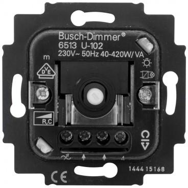 Dimmereinsatz Druck-/ Wechsel 40-420W / VA Busch-Jaeger