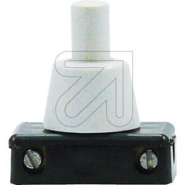 Druck Einbau Schalter Hals 12mm weiß 230V / 2A, Aus,1-polig