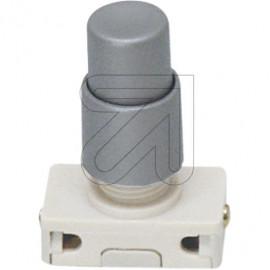 Druck Einbau Schalter Hals 7,5mm silber 230V / 2A, Aus, 1 polig, mit Spezialknopf