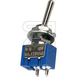 Mini Kipp Schalter 1 polig Aus chrom mit Zentralbefestigung M6