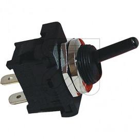 Mini Kipp Schalter 230V / 6(4A), Steckanschluß 4,8mm 1 polig Aus schwarz