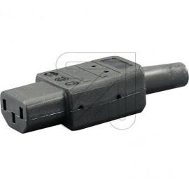 Kaltgeräte Stecker 230V / 10A schwarz VDE