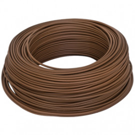 10 Meter Aderleitung, 1,5²mm H07V-U, braun, inkl. CU ( Meterware )
