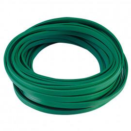 Illu Flachkabel, (Meterware) 2 x 1,5²mm H05RN H2-F, grün, inkl. CU