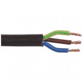 10 Meter Rundleitung, 3G x 1,5²mm H05 VV-F, schwarz, inkl. CU