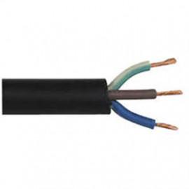 Gummischlauchleitung, (Meterware) 2 x 1²mm H07RN-F, schwarz, inkl. CU