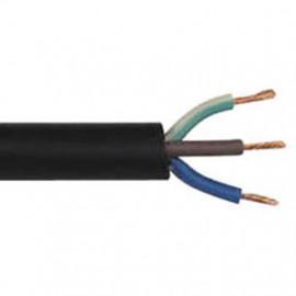 50 Meter Erdkabel, 3 x 1,5²mm NYY-J, schwarz, inkl. CU