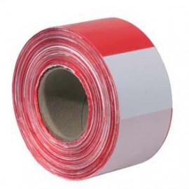 Absperrband, rot/weiß, Länge 500 m, Breite 80 mm