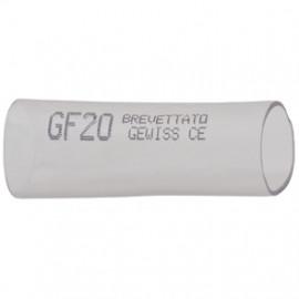 10 Stück Verbindungsmuffe für gewelltes Rohr, transparent Ø M 25 mm