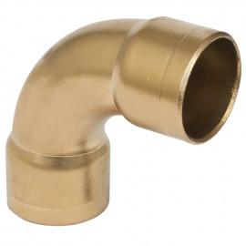Verbindungshülse , Metall gold gebogen 90° für Kabelrohr, Schalterprogramm Atlantis Pozellan