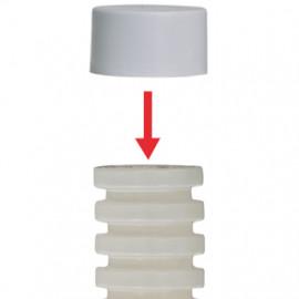 10 Stück Endkappe für gewelltes Flexrohr Ø M 20 mm