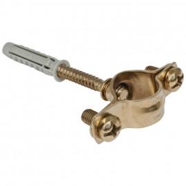 Kabelschelle für Kabelrohr, Metall gold für Schalterprogramm Atlantis Pozellan weiß