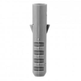100 Stück Kunststoff Dübel, grau Ø 6 mm x Länge 30 mm, für Schrauben-Ø 4-5 mm