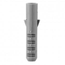 100 Stück Kunststoff Dübel, grau Ø 8 mm x Länge 40 mm, für Schrauben-Ø 5-6 mm