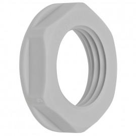 10 Stück Iso Gegenmutter, metrisch,  grau, Polyamid, halogenfrei Gewinde M40