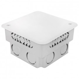 Abzweigdose, UP, mit weißem Deckel, Breite 100 mm x Länge 100 mm x Höhe 45 mm