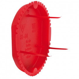 50 Stück Signaldeckel, Ø 60 mm, rot - Kaiser