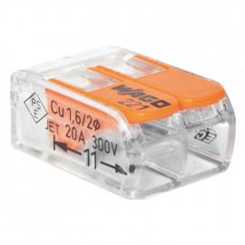100 Stück Verbindungsklemme, COMPACT, 2-polig - Wago