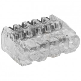 50 Stück Steckklemme, SDKF, 5-polig, von 0,02² bis 2,5²mm, transparent