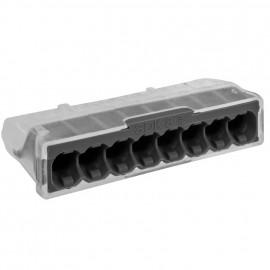 10 Stück Steckklemme, 8-polig, für Leiter von 0,5² bis 2,5²mm, transparent anthrazit