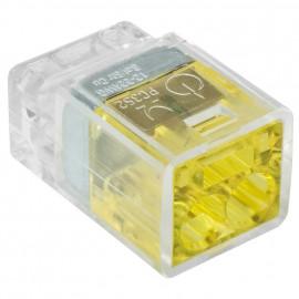 100 Stück Steckklemme, 2-polig, für Leiter von 1,0² bis 2,5², transparent - Klein