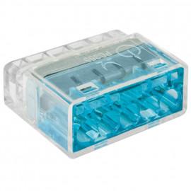 50 Stück Steckklemme, 5-polig, für Leiter von 1,0² bis 2,5², transparent - Klein