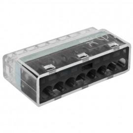 10 Stück Steckklemme, 8-polig, für Leiter von 1,0² bis 2,5², transparent - Klein