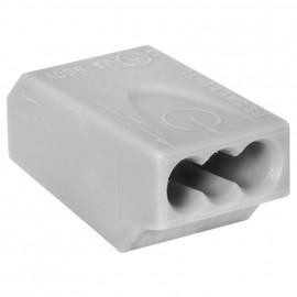 10 Stück Steckklemme, 3-polig, für Leiter von 0,75² bis 1,5²mm , grau - Klein