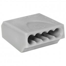 10 Stück Steckklemme, 5-polig, für Leiter von 0,75² bis 1,5²mm , grau - Klein