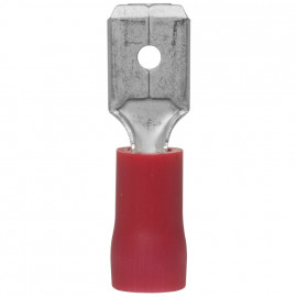 100 Stück Flachstecker, für Kabel Ø 0,5 - 1,5²mm  Anschluss 6,3 x 0,8 mm Rot