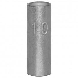 100 Stück Stoßverbinder, ohne Isolierung, für Kabel Ø 10mm Länge 20mm