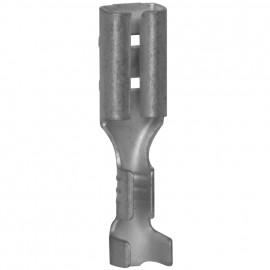 100 Stück Flachsteckhülse,  ohne Isolation, Kabel Ø 0,5 - 1,5²mm Anschluss 2,8 x 0,8 mm