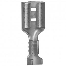 100 Stück Flachsteckhülse,  ohne Isolation, Kabel Ø 0,5 - 1,5²mm Anschluss 4,8 x 0,8 mm