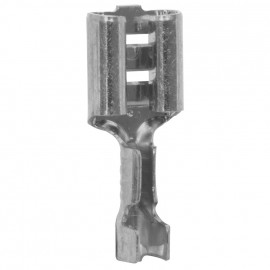 100 Stück Flachsteckhülse,  ohne Isolation, Kabel Ø 0,5 - 1,5²mm Anschluss 6,3 x 0,8 mm