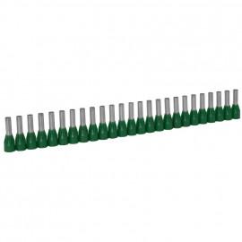 250 Stück Aderendhülsen für STARFIX Ø 1,0²mm Länge 12 mm Grün