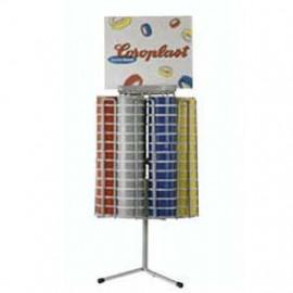 Verkaufskarussel mit 104 Rollen PVC-Isolierband, Breite 15 mm, Länge 10 m