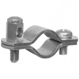 Erdungsrohrschelle, Bandeisen verzinkt, Größe 3/8 Zoll, für Rohr-Ø 15-18 mm