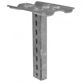 Hängestiel für Kabelrinne System C40, Stahl, Belastung 2000 N Länge 600 mm