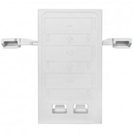 Adapterplatte für senkrechte Montage einzelner Klemmen, für Zugang 25 mm² und 35 mm²