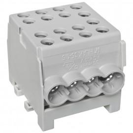 Hauptleitungs Abzweigklemme 1 p.2 Eingänge 35 mm² / 6 Ausgänge 16 mm² grau verzinnt