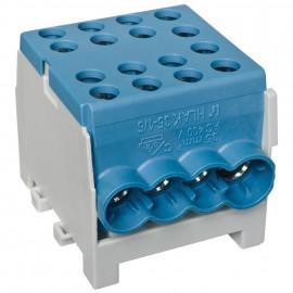 Hauptleitungs Abzweigklemme 1 p.2 Eingänge 35 mm² / 6 Ausgänge 16 mm² blau verzinnt