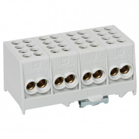 Hauptleitungs Abzweigklemme grau 2 Eing. 25 mm²  2 Ausg.e 16 mm², 4-polig 1 Doppelnull
