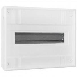 Kleinverteiler, 1-reihig, AP, Höhe 250 mm, 12 + 2 weiß ohne Tür - F-tronic