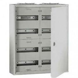 Flachverteiler, 2-Felder / 5 Reihen, Stahlblech weiß IP31 F-Tronic